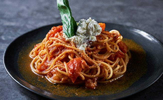 リコッタチーズとトマトのパスタ